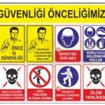 İş güvenliği etiketleri, tabelası, uyarı ikaz levhaları,baret sticker,metal etiket, kaliteli uv baskı