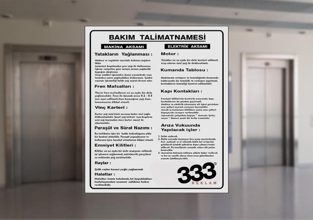 Ankara,Asansör,Uyarı,Etiketleri