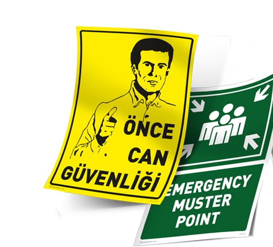 Ankara İş Güvenliği Etiketleri,Logolu İş Güvenliği Levhası,