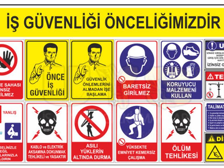 Logolu,İş,Güvenliği,Tabelası