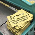 Uyarı İkaz Etiketi