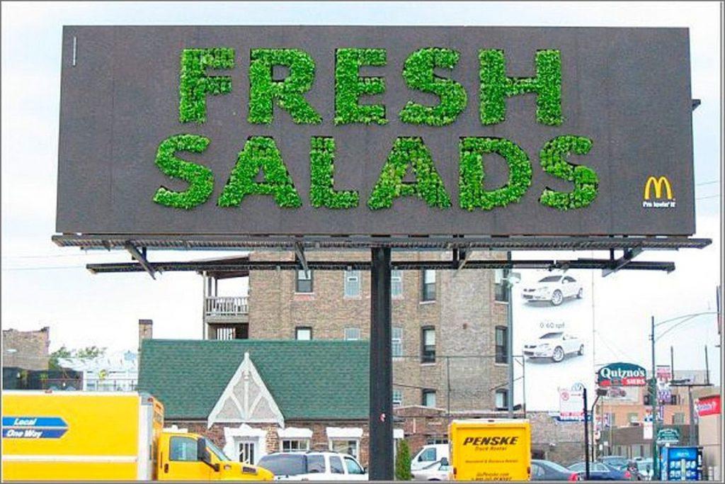 Yaratıcı,Billboard,Örnekleri,Mc Donalds,Fresh,Salads