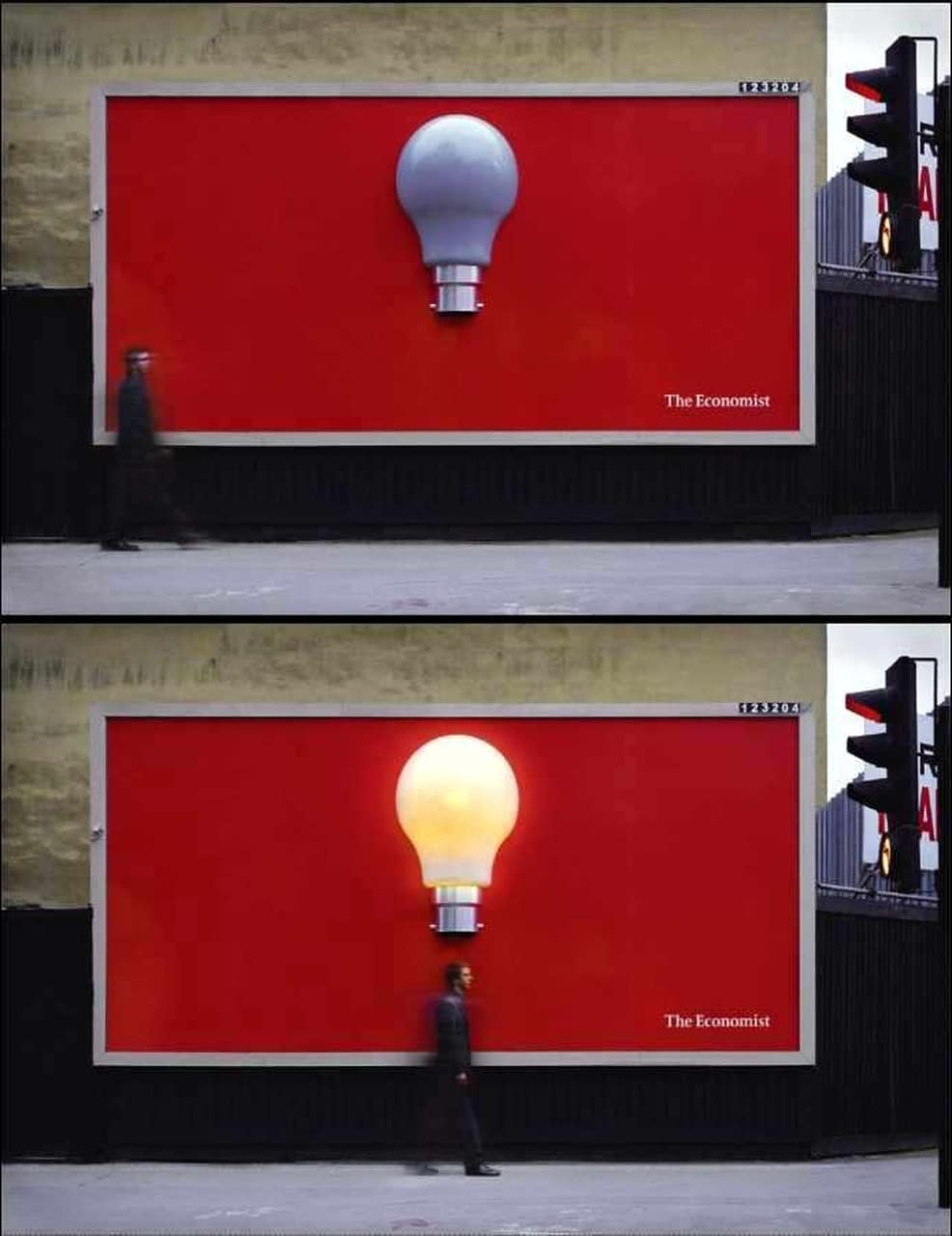 Yaratıcı,Billboard,Örnekleri,The,Economist,Ampul,Parlak,Fikir,Ekonomi,Dergisi